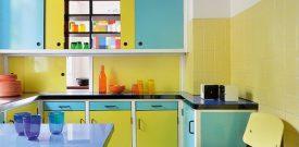 60s style kitchen interior